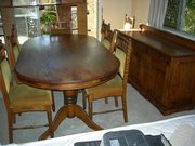 Solid English Oak Dining Suite