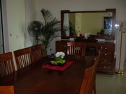8 seater solid wood dining suite