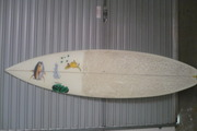 fiber glass board in good condition with leg rope six foot great cond