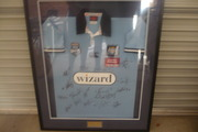 framed blues jersey signed in perfect condition a must to have