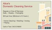 Alice's Domestic Cleaning Service