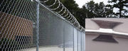 Chain Link Fence Application with Barbed Wire