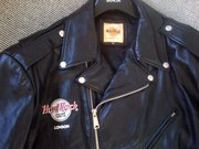 Hard Rock Cafe (London) biker style leather jacket