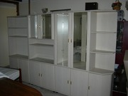 4 Piece Verneer Display Cabinets