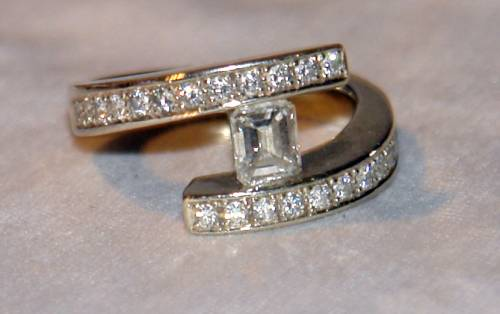 Pre Owned La s 18K WhtGold DIAMOND Engagement Wedding Ring Townsville A